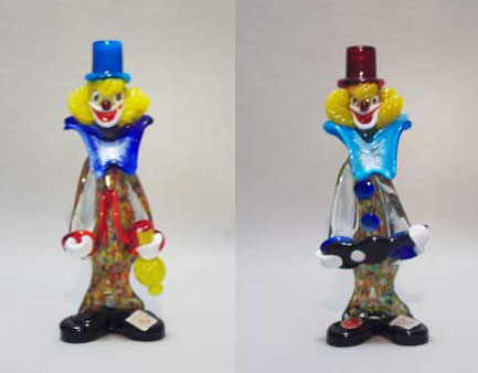 Murano Art Glass Clowns
