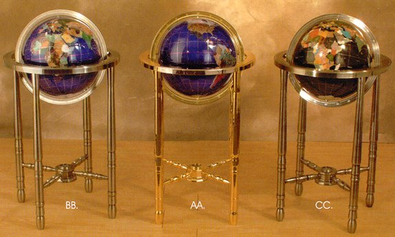 Good Jere Wright Global   Jeweler Quality Gemstone Globes   Floor Globes