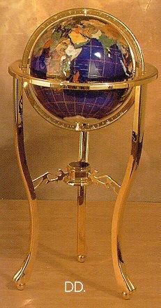 Jere Wright Global   Jeweler Quality Gemstone Globes   Floor Globes